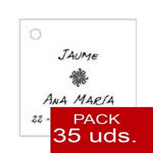 Imagen Etiquetas personalizadas Etiqueta Modelo D04 (Paquete de 35 etiquetas 4x4)