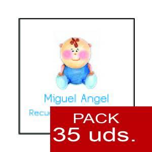 Imagen Etiquetas personalizadas Etiqueta Modelo F16 (Paquete de 35 etiquetas 4x4)