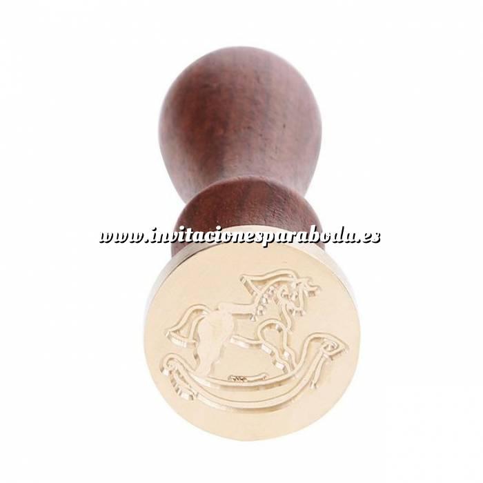 Imagen Diseños inmediatos Sello lacre mango largo - INFANTIL - Caballito Balancín (Últimas Unidades)
