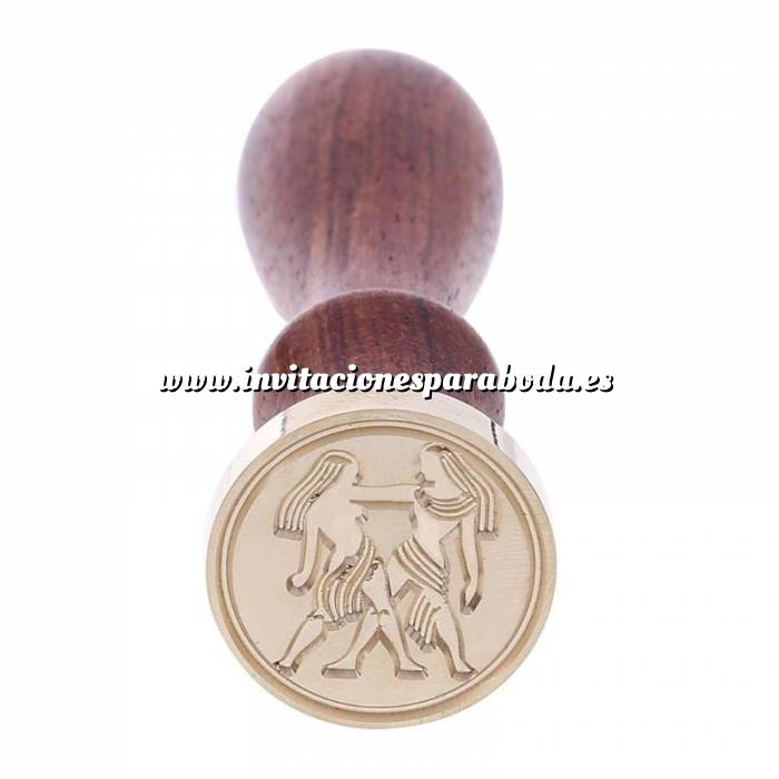 Imagen Diseños inmediatos Sello lacre mango largo - SIGNOS DEL ZODIACO 2 - Géminis (Últimas Unidades)