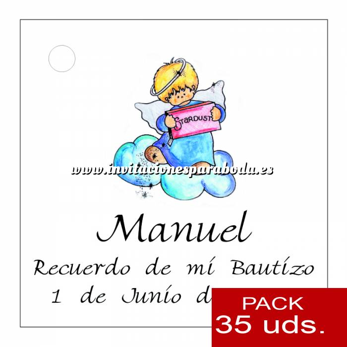 Imagen Etiquetas impresas Etiqueta Modelo D28 (Paquete de 35 etiquetas 4x4)