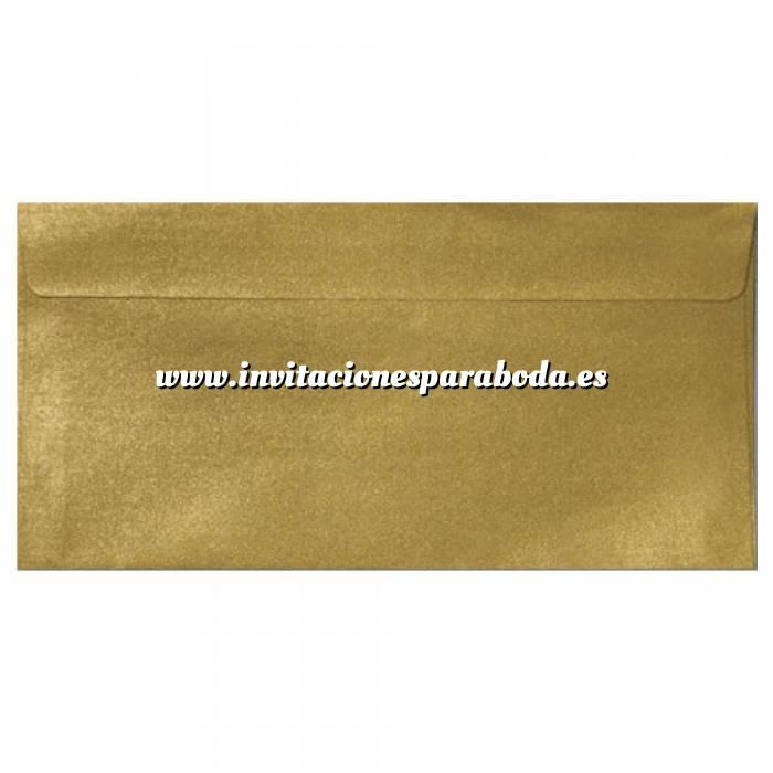 Imagen Sobre Americano DL 110x220 Sobre Perlado Oro DL