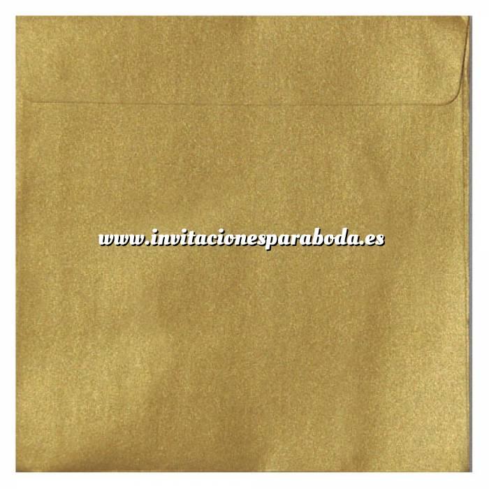 Imagen Sobres Cuadrados Sobre Perlado Oro Cuadrado