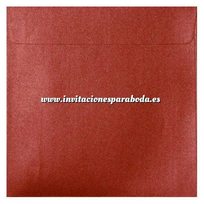 Imagen Sobres Cuadrados Sobre Perlado Rojo Cuadrado (Rojo Cardenal)