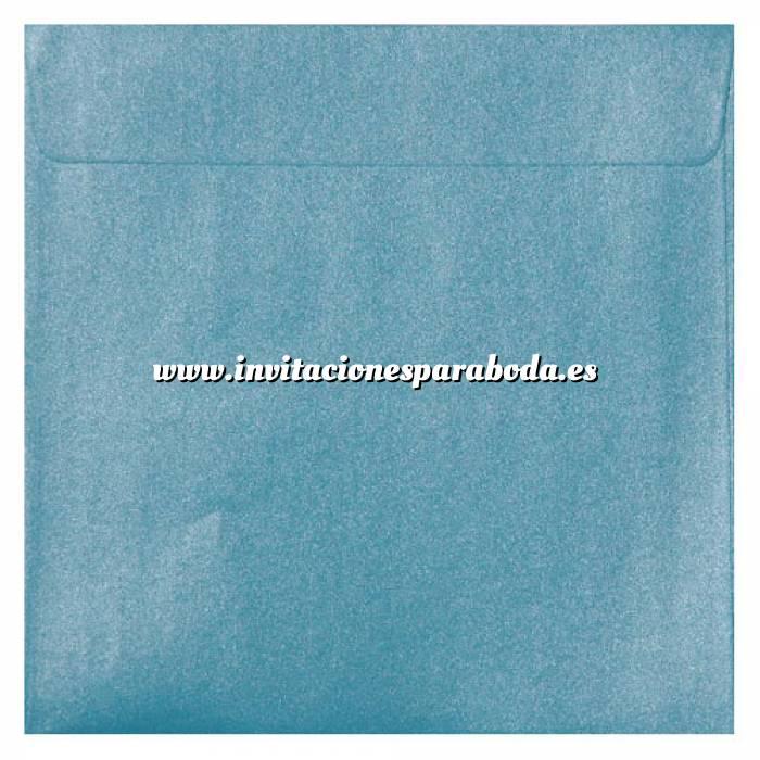 Imagen Sobres Cuadrados Sobre Perlado celeste Cuadrado (Azul Bebé)