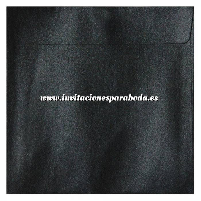 Imagen Sobres Cuadrados Sobre Perlado negro Cuadrado