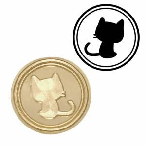 Diseños inmediatos - Sello lacre mango largo - ANIMALES - Gato Pequeño (Últimas Unidades)
