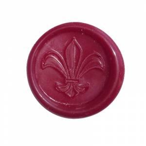 Lacres adhesivos - Sello de lacre Adhesivo Lys rojo