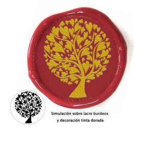 Personalizado con TU diseño - Sello Lacre 3 cms. Árbol del amor